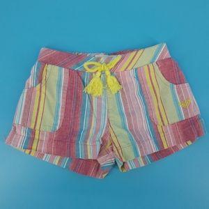 Roxy Girl 6X Striped Cotton Shorts